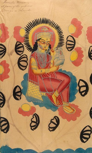An image of Kamala Kaminy by Kalighat school