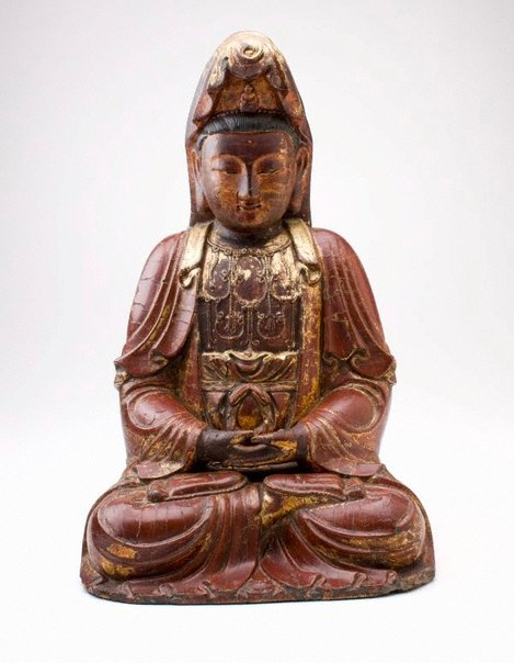 An image of Seated figure of Kuan Yin by