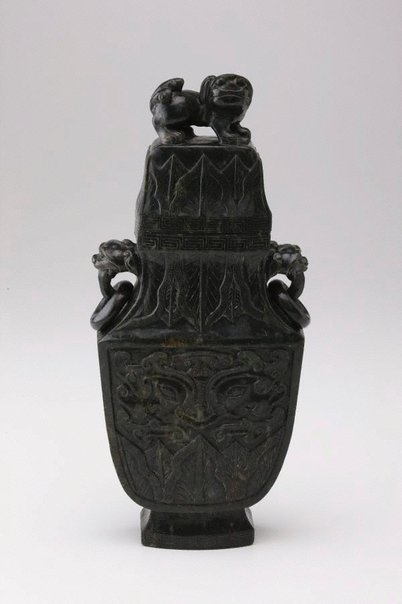 An image of Covered vase by Unknown