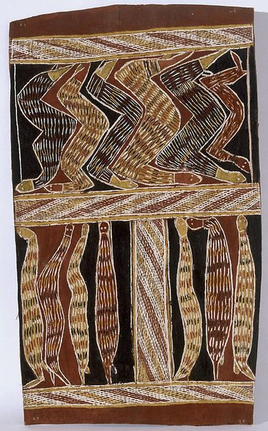 An image of Darrpa (king brown snakes) by Buranday Waynbarrnga