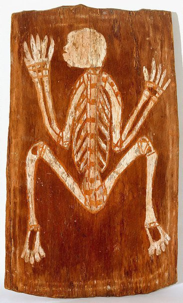 An image of Spirit in the form of a skeleton by Nicholas