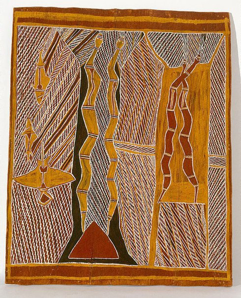 An image of The Rain Men (Birimbira) by Munggurrawuy Yunupingu