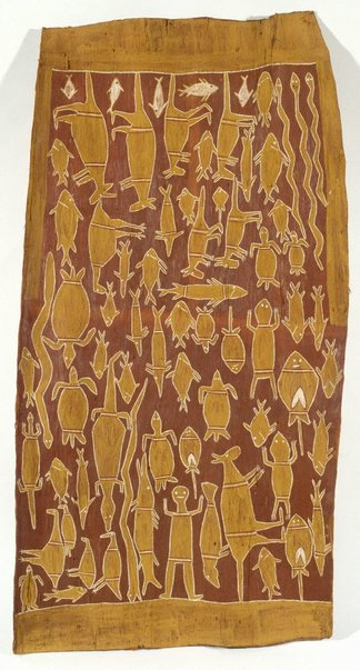 An image of Hunting scene by Munggurrawuy Yunupingu