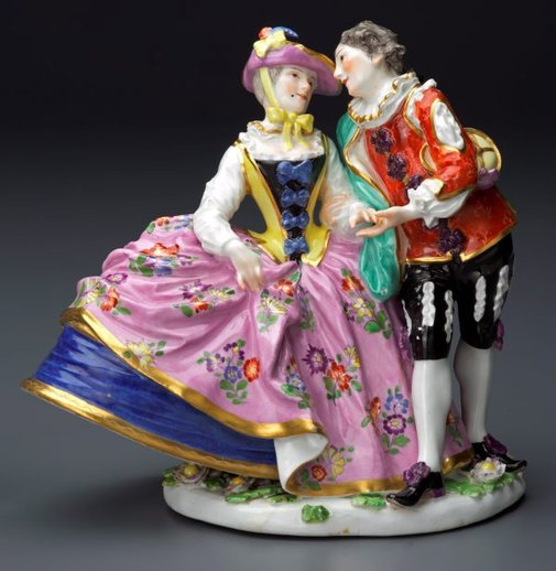 An image of The Spanish lovers, model by Meissen