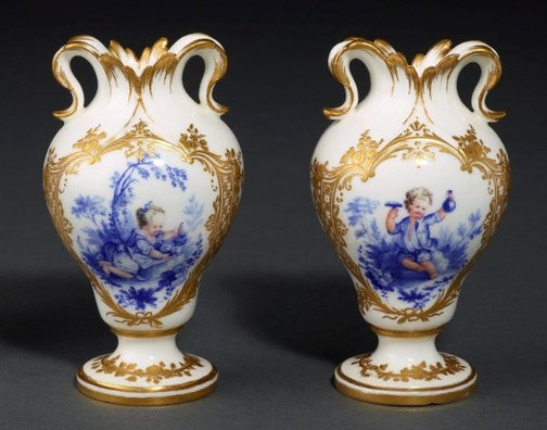 An image of Pair of vases by Vincennes