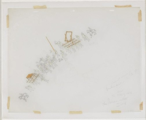 An image of Untitled (study for The modern procession III) by Francis Alÿs