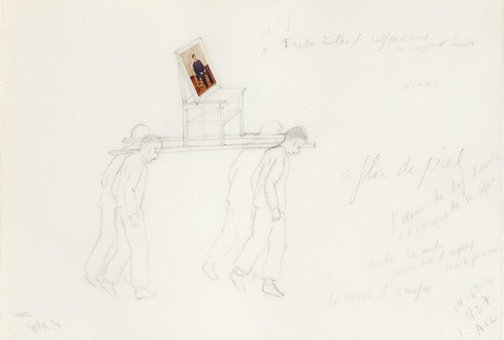 An image of Untitled (study for The modern procession-Frida Kahlo) by Francis Alÿs