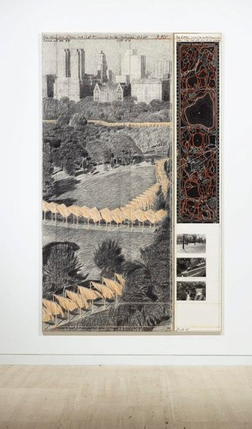 An image of The Gates, Project for Central Park, NYC by Christo