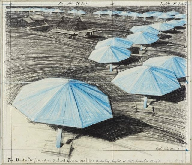 An image of The Umbrellas, Project for Japan and Western USA