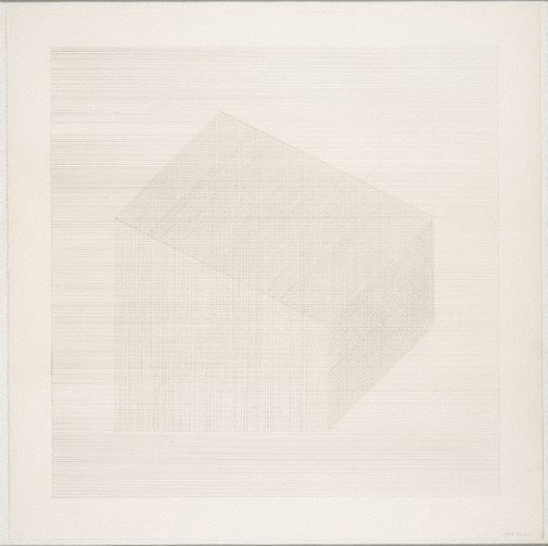 An image of Form derived from a cube by Sol LeWitt
