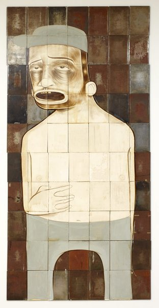 An image of Untitled (man with baseball hat) by Barry McGee