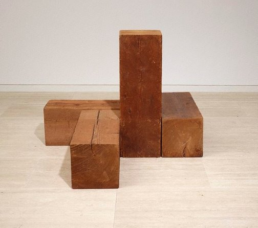 An image of The way north, south and west (uncarved blocks) by Carl Andre