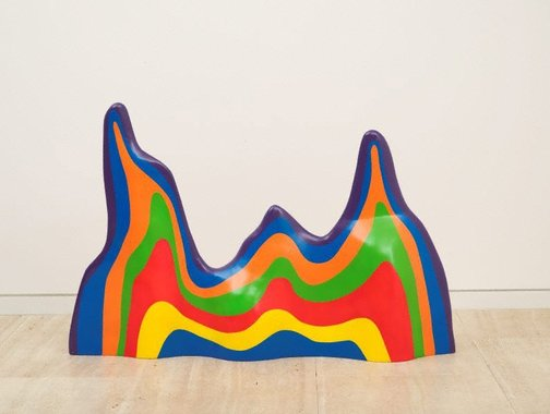 An image of Non-geometric form (splotch) #5 by Sol LeWitt