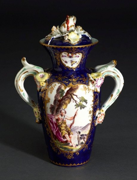 An image of Vase and cover by Derby