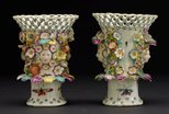 Alternate image of Frill vase [one of pair] by Derby
