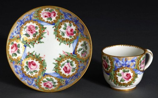An image of Cup and saucer (gobelet Bouillard) by Sèvres