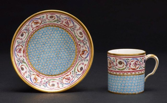 An image of Cup and saucer (gobelet litron)