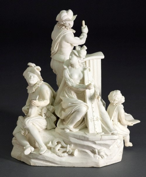 An image of Group of musicians by Bourg-la-Reine porcelain factory