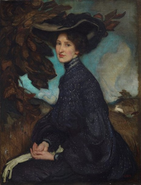 An image of Miss Thea Proctor by George W Lambert