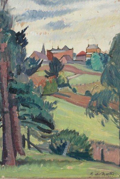 An image of (View from a north shore garden, Pymble) by Roy de Maistre