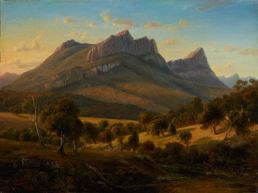 An image of Mount Abrupt, the Grampians, Victoria by Eugene von Guérard
