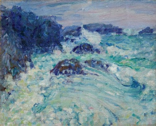 An image of Rough sea, Morestil by John Russell