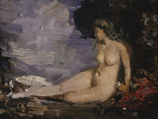 An image of Study for 'Classic romance' by Arthur Streeton