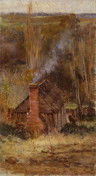 An image of Cottage, Macedon by Frederick McCubbin