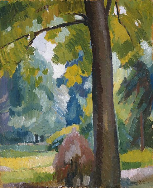 An image of In the Luxembourg Gardens by Roland Wakelin