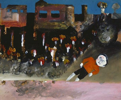 An image of Boy in township by Sidney Nolan