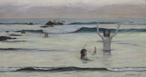 An image of Tritons by Rupert Bunny