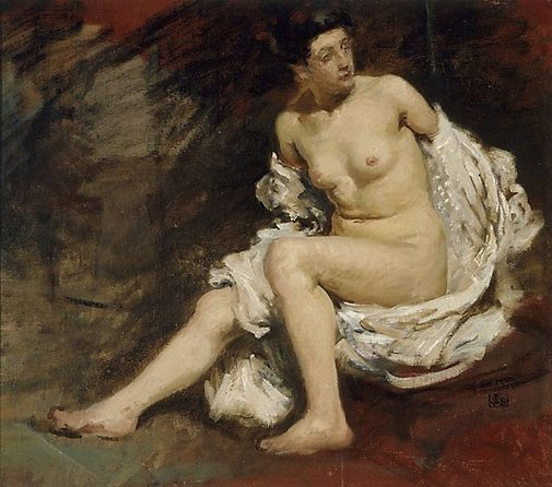"An image of Figure study for ""Summer time"" by Rupert Bunny"