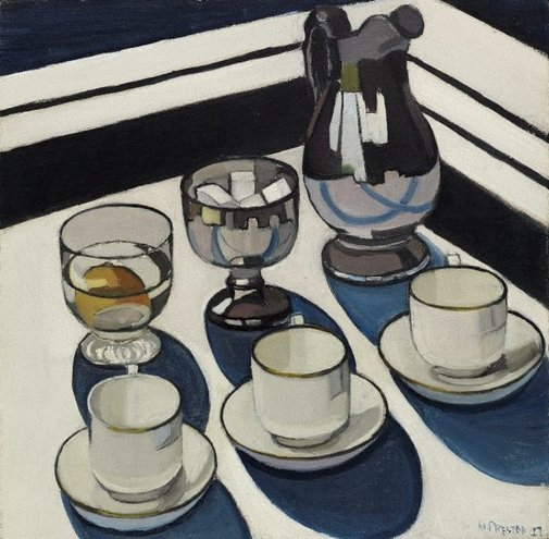 An image of Implement blue by Margaret Preston