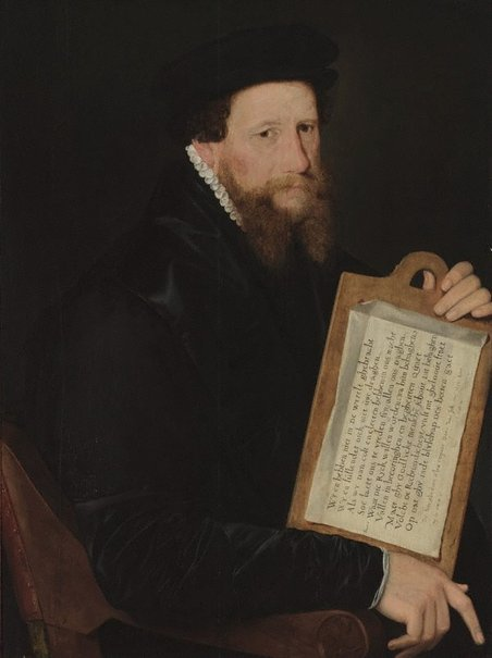An image of Portrait of a Protestant minister of religion by Willem Key