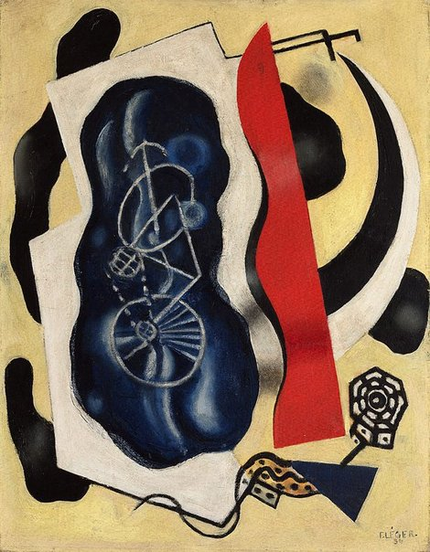An image of The bicycle by Fernand Léger