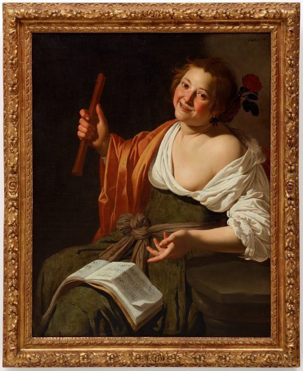 An image of Girl with a flute