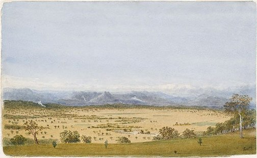 An image of Yarra flats from Christmas Hill, Victoria no. 1 by Hugh Finlay