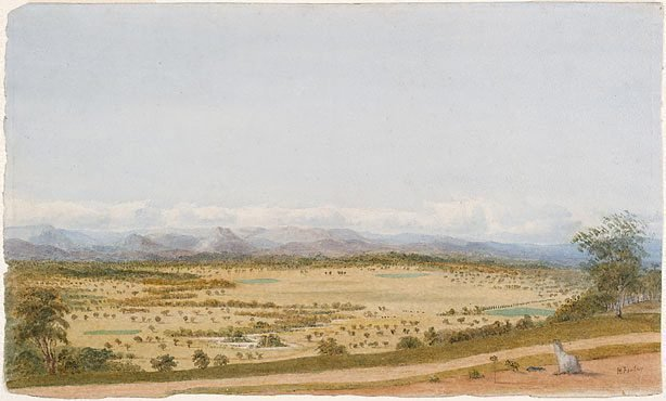 An image of Yarra flats from Christmas Hill, Victoria no. 2