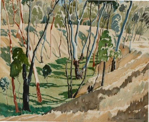 An image of The little gully by Kenneth Macqueen
