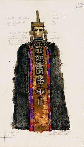 An image of Costume design - Atahuallpa (for 'Royal Hunt of the Sun') by Wendy Dickson