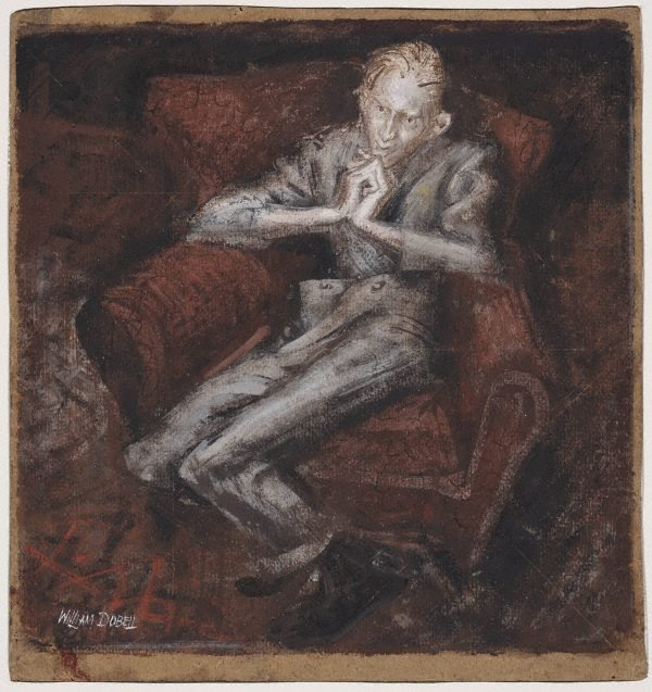 "An image of Study for ""Boy lounging"""