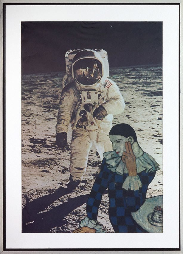 An image of The astronaut is discovered by a dreaming pierrot