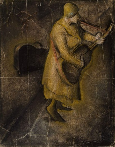 "An image of Study for ""The street singer"" by William Dobell"