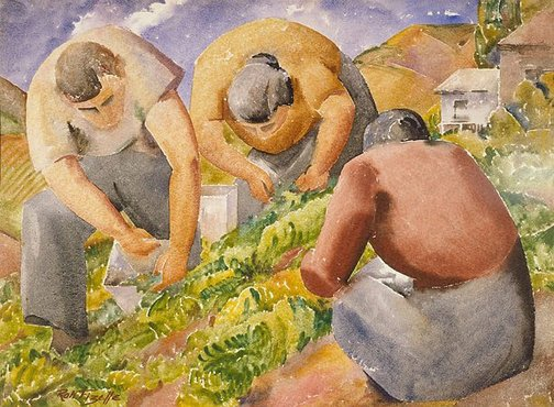 An image of Pea pickers by Rah Fizelle