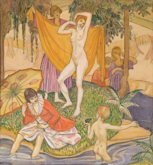 An image of The bathers by Thea Proctor