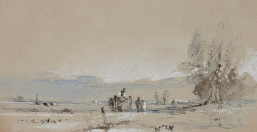 An image of Scene in Normandy (Landscape) by Richard Parkes Bonington