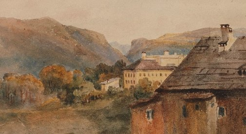 An image of Ischel from inn window by Constance Davidson