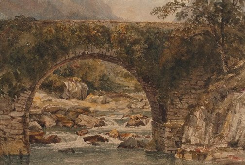 An image of Pont Aberglaslyn, North Wales by Constance Davidson