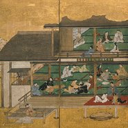 Image: Merrymaking in the Yoshiwara mid 1600s (detail), Art Gallery of New South Wales