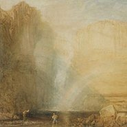 Image: JMW Turner High force, Fall of the Tees, Yorkshire 1816 (detail), Art Gallery of NSW collection